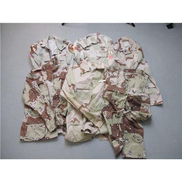 U.S. MILITARY DESERT CAMO CLOTHING LOT