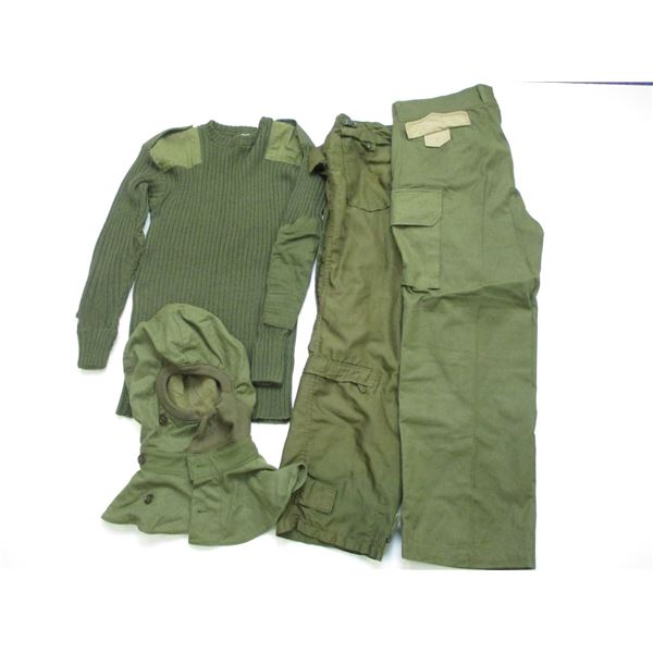 ASSORTED MILITARY CLOTHING LOT