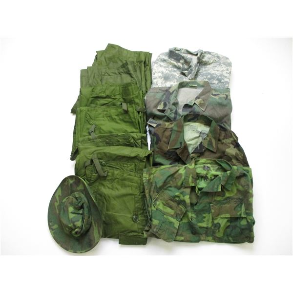 MILITARY CLOTHING LOT