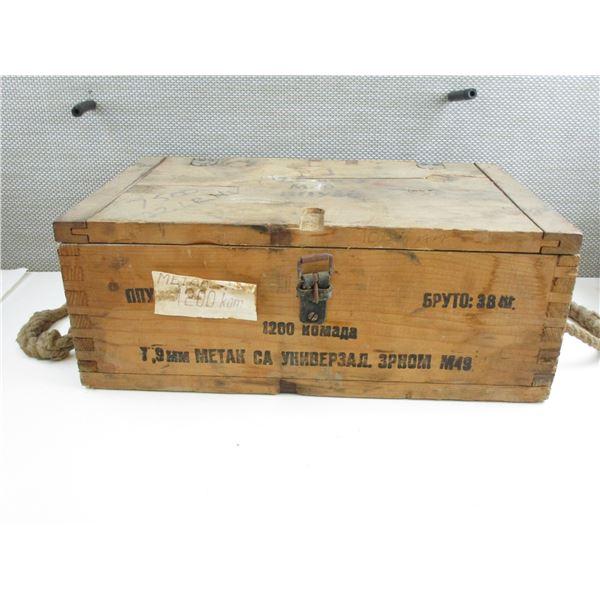 YUGOSLAVIAN WOODEN AMMO BOX