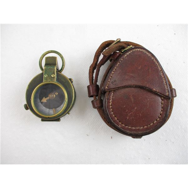 WWI BRITISH MARCHING COMPASS WITH POUCH