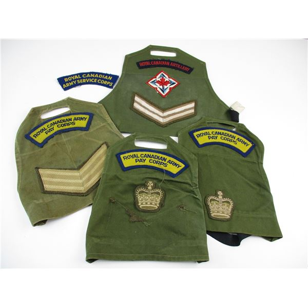 CANADIAN MILITARY ARMLETS/TITLE