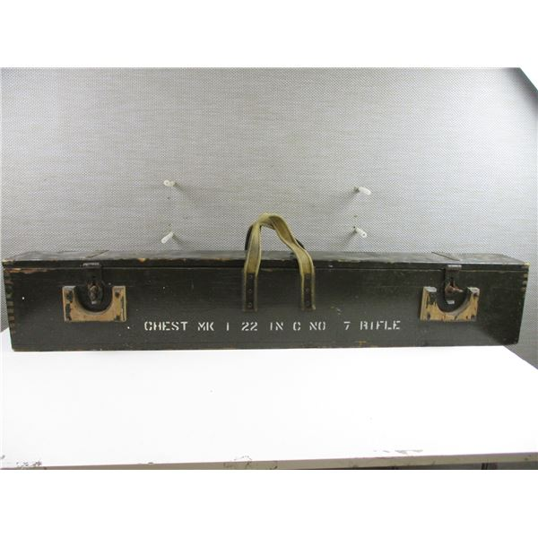WWII CANADIAN LEE ENFIELD RIFLE CHEST
