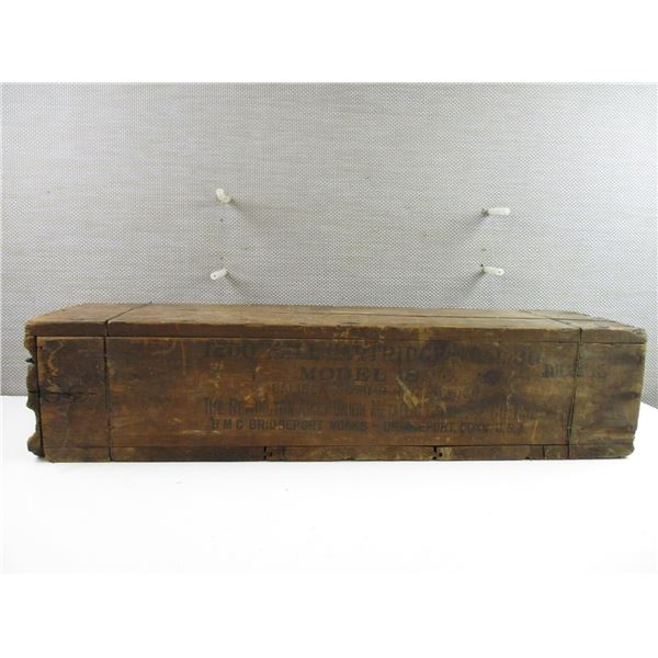 WWI U.S. 1918 WOODEN .30 CAL REMINGTON AMMO CRATE