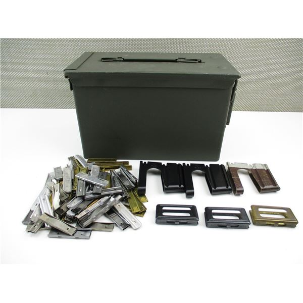 ASSORTED STRIPPER CLIPS/AMMO CAN LOT