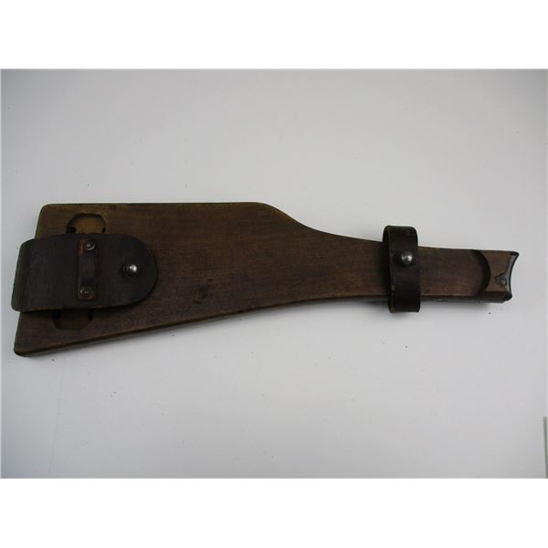 WWI GERMAN WOODEN LUGER UTILITY STOCK