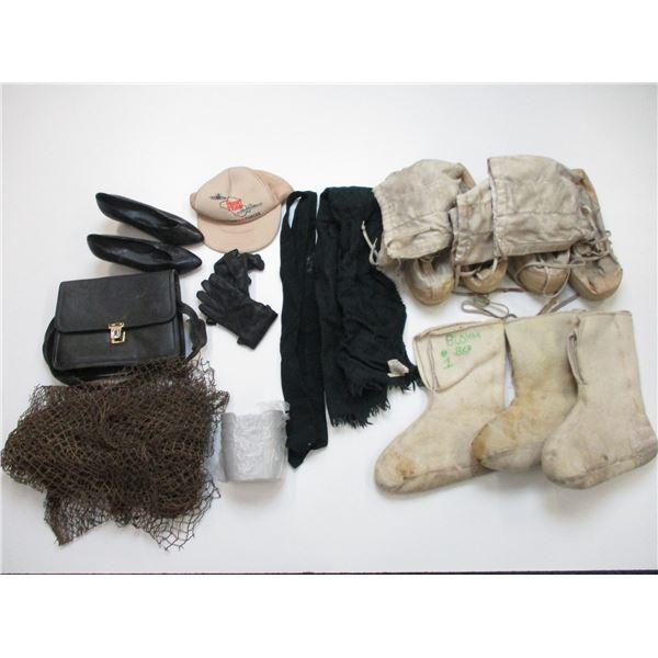 ASSORTED CLOTHING/MILITARIA ETC LOT
