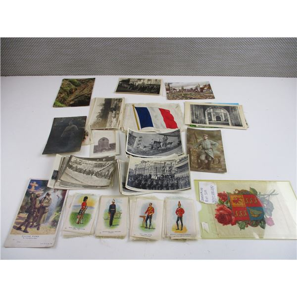 ASSORTED MILITARY PICTURES ETC LOT