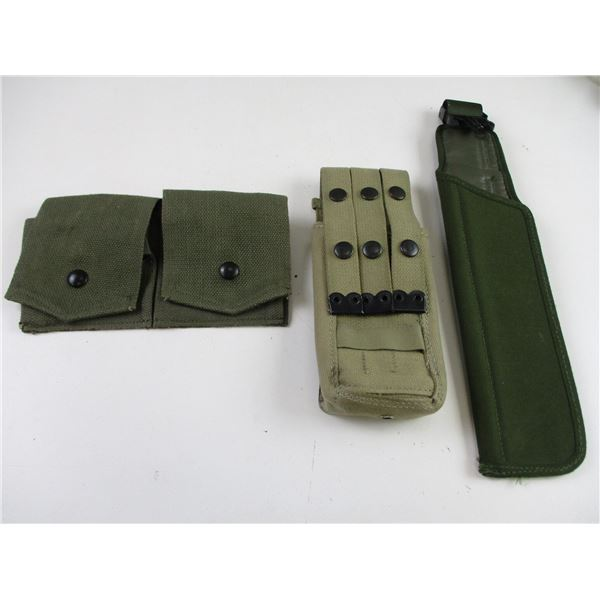 ASSORTED POUCH/SCABBARD LOT