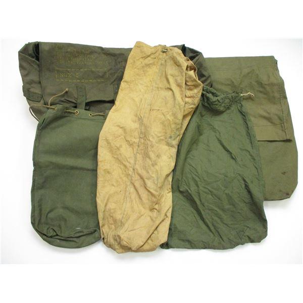 U.S. ARMY BLANKET BAG + DUFFEL BAG LOT