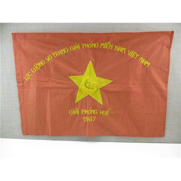 1967 VIET CONG BATTLE FLAG