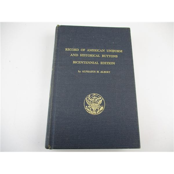 MILITARY UNIFORM AND BUTTON BOOK