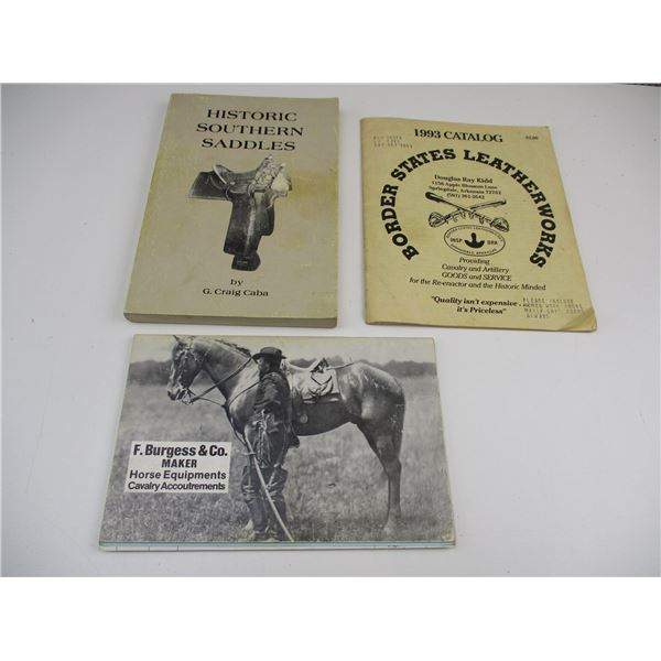 ASSORTED LEATHER, HORSE EQUIPMENT BOOKLETS