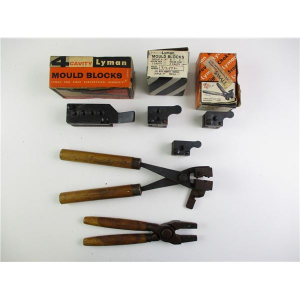 ASSORTED BULLET MOLDS AND HANDLES