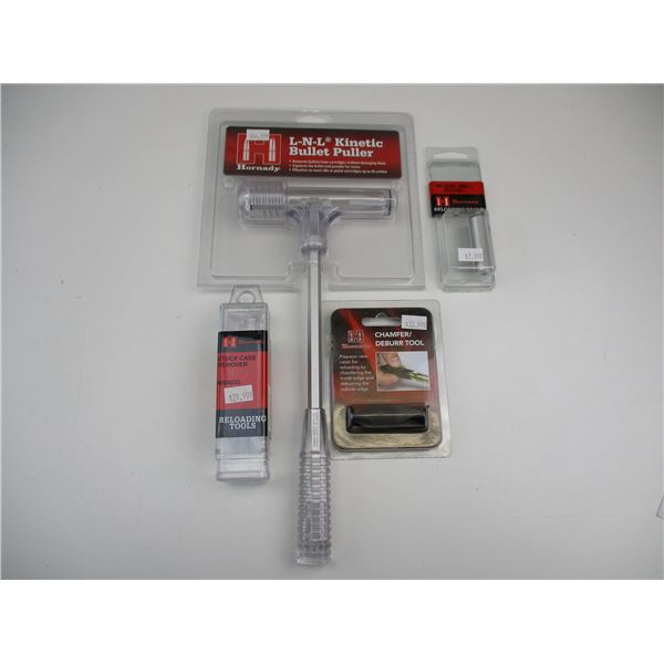 ASSORTED NEW HORNADY RELOADING TOOLS
