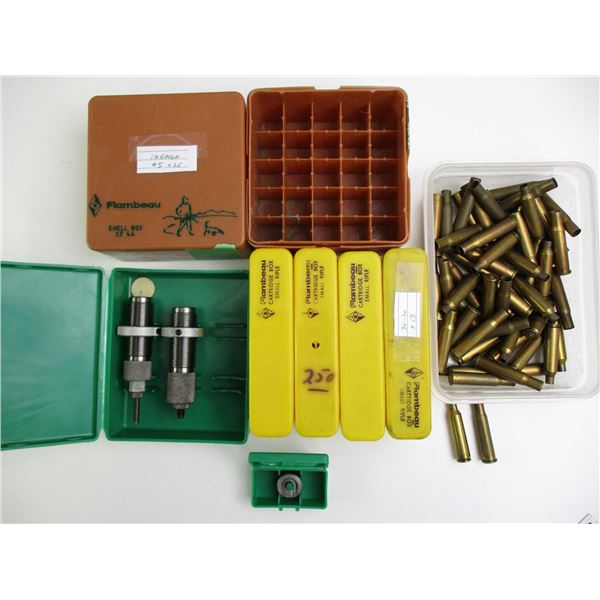 ASSORTED RELOADING LOT AND BRASS CASES
