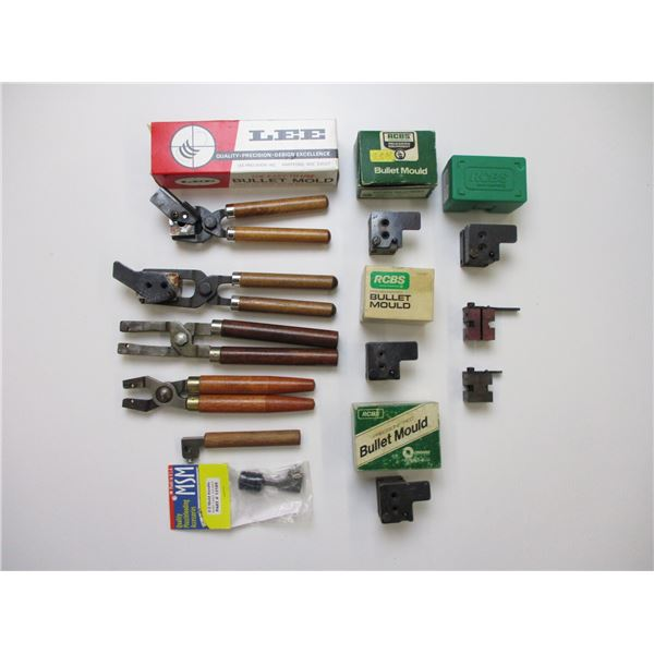 ASSORTED BULLET MOLD AND HANDLE LOT