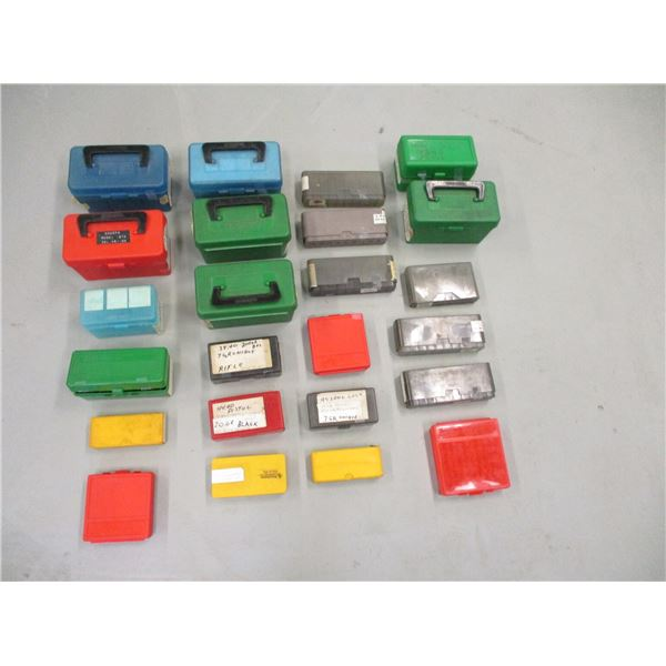 ASSORTED PLASTIC AMMO CONTAINERS