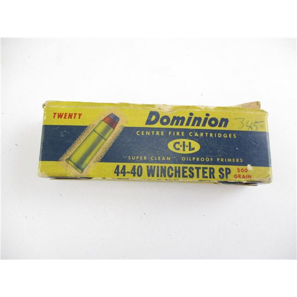 ASSORTED DOMINION 44-40, COLLECTIBLE AMMO