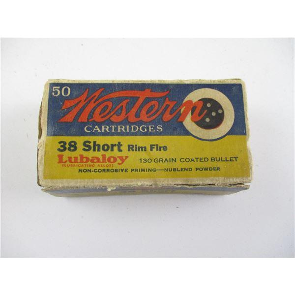 WESTERN .38 SHORT RIMFIRE COLLECTIBLE AMMO