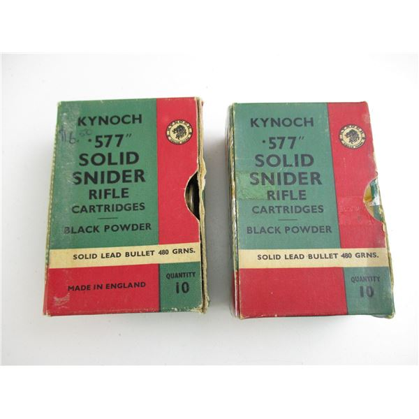 KYNOCH .577 SNIDER COLLECTIBLE AMMO