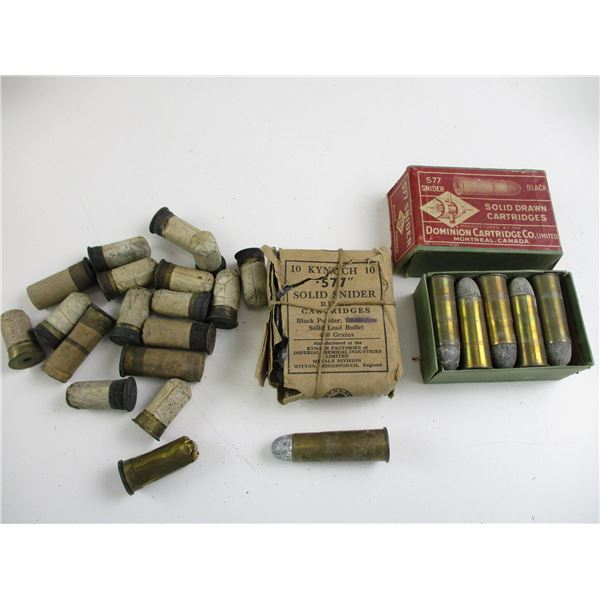 ASSORTED .577 COLLECTIBLE AMMO AND BLANKS