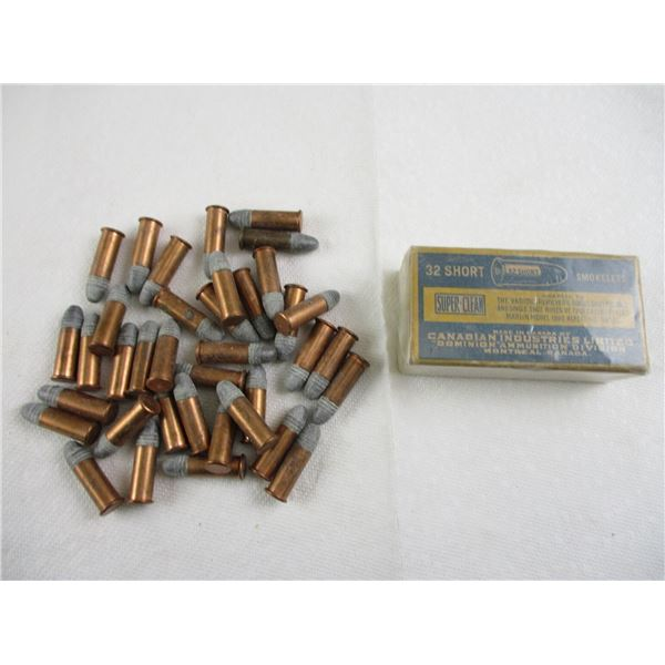 ASSORTED .32 SHORT AND LONG RF COLLECTIBLE AMMO