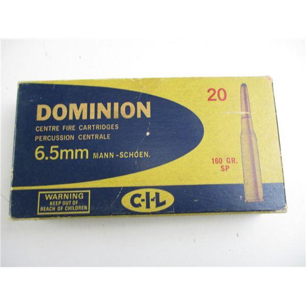 DOMINION 6.5MM MANN-SCHOEN COLLECTIBLE AMMO