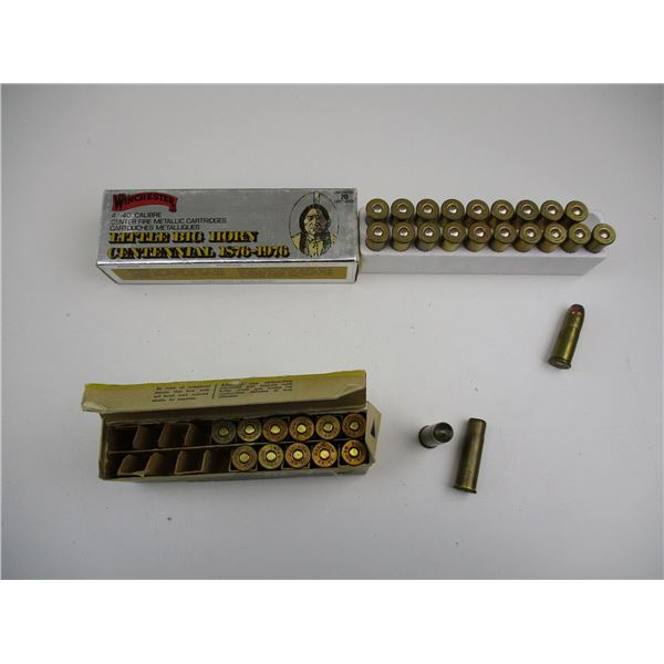 WINCHESTER AND DOMINION 44-40 WIN COLLECTIBLE AMMO