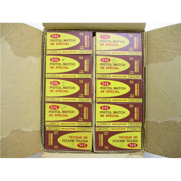 NON PRIMED 38 SPECIAL WC BRASS CASES