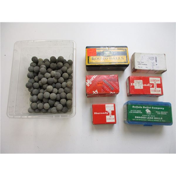 ASSORTED LEAD ROUND BALL LOT FOR MUZZLELOADING