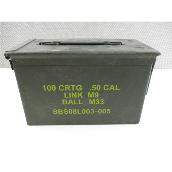 ASSORTED .45 AUTO BRASS CASES, IN METAL AMMO TIN
