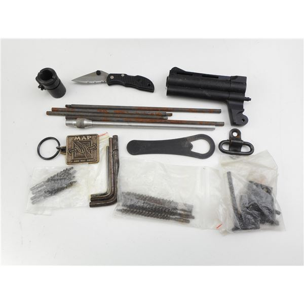 ASSORTED PARTS/CLEANING RODS ETC