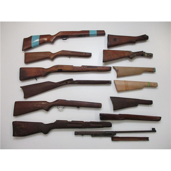 ASSORTED WOODEN RIFLE STOCKS ETC