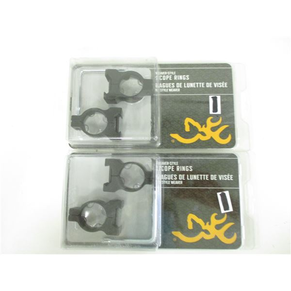 """BROWNING WEAVER STYLE 1"""" SCOPE RINGS"""