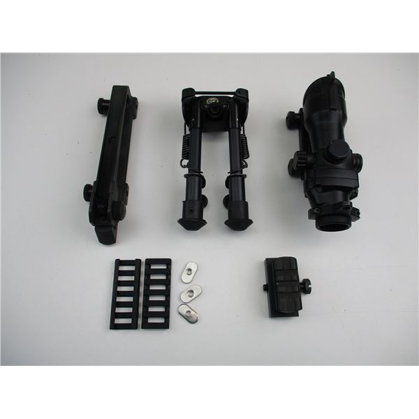 RED-DOT SIGHT WITH BIPOD ETC