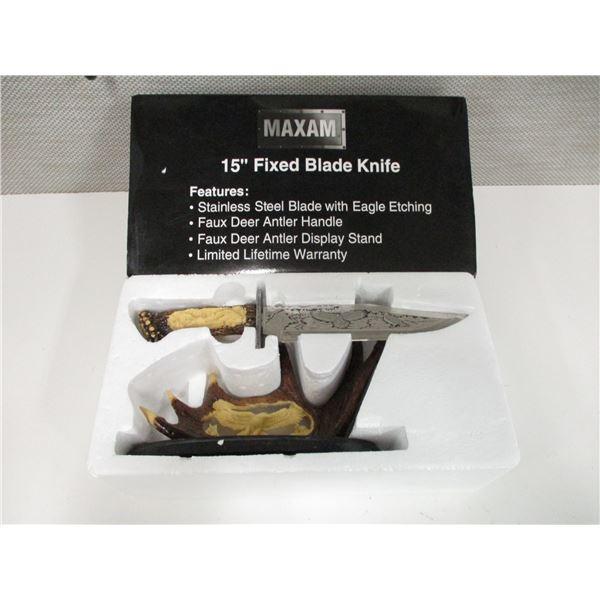 "MAXAM 15"" FIXED BLADE KNIFE"