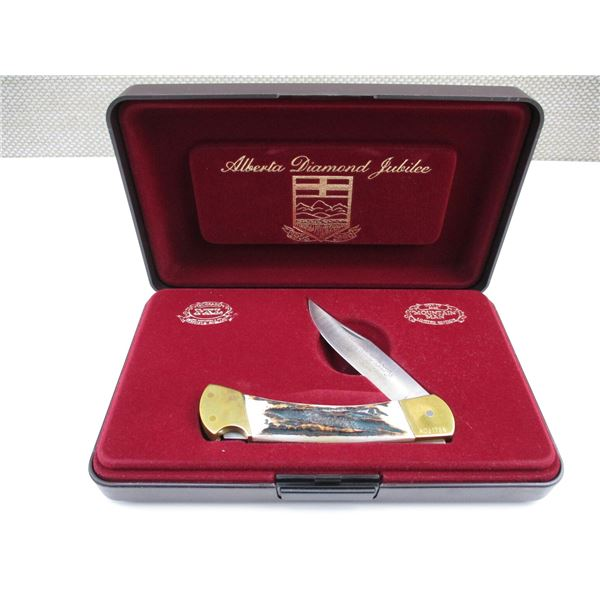 ALBERTA DIAMOND JUBILEE FOLDING KNIFE WITH DISPLAY BOX