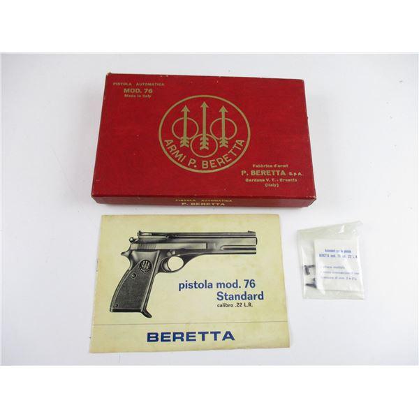 BERETTA MODEL 76 HANDGUN FACTORY CASE