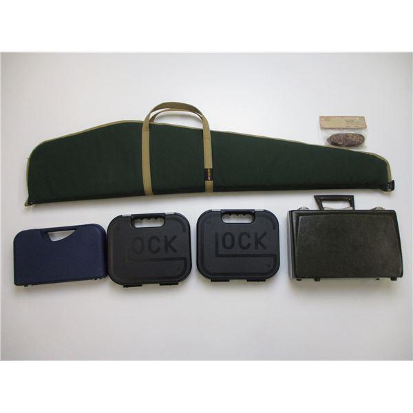 HANDGUN HARD CASES & SOFT RIFLE CASE ETC