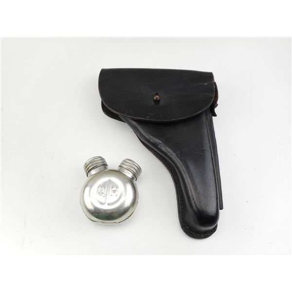 P38 TYPE LEATHER HOLSTER + OILER