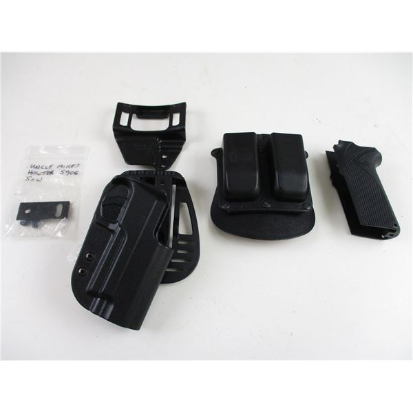 SMITH & WESSON MODEL 5906 HOLSTER / MAG POUCH & GRIP