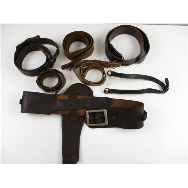 ASSORTED LEATHER BELTS & STRAPS