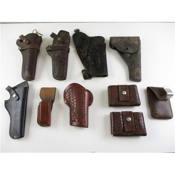 ASSORTED LEATHER HOLSTERS & ACCESSORIES