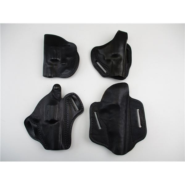 ASSORTED LEATHER REVOLVER STYLE HOLSTERS