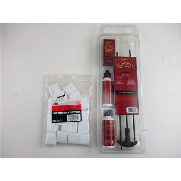 OUTERS RIFLE CLEANING KIT + CLEANING PATCHES
