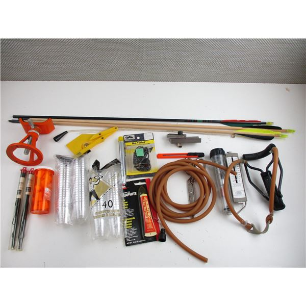 SLING SHOT + ASSORTED ACCESSORIES