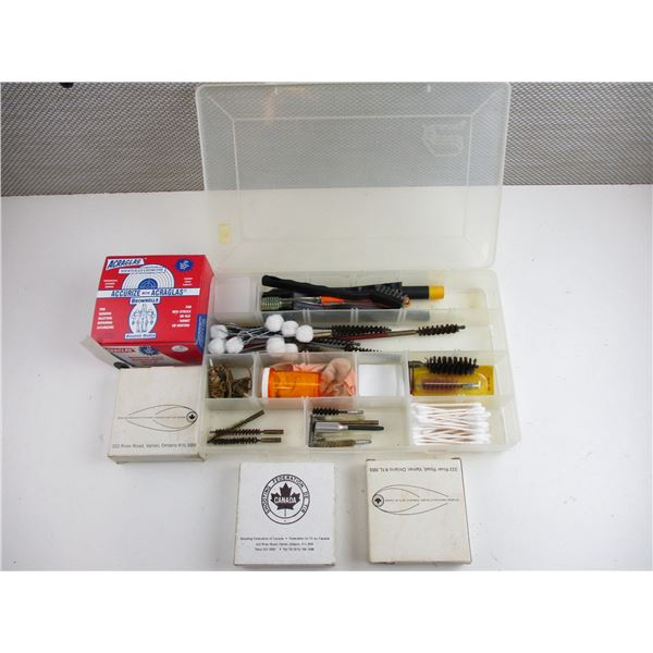 ASSORTED GUN CLEANING ACCESSORIES