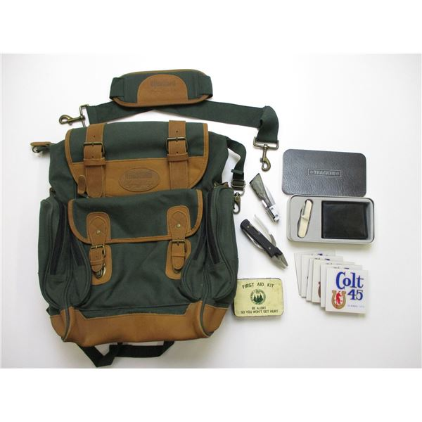 BUSHNELL CANVAS BACK PACK + ACCESSORIES