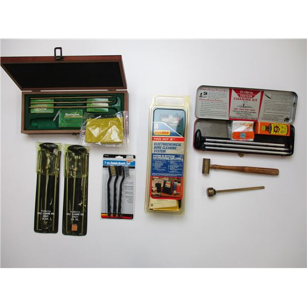 ASSORTED RIFLE & SHOTGUN CLEANING ACCESSORIES